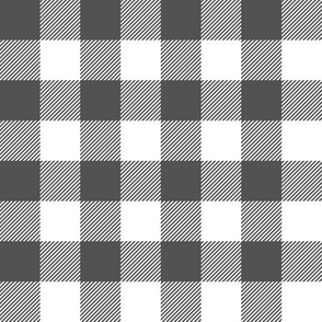 charcoal buffalo check -  plaid fabric