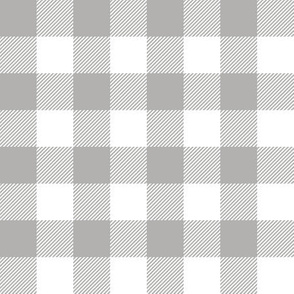 grey and white buffalo plaid - plaid fabric