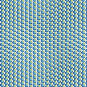 Blue circle spheres in watercolor