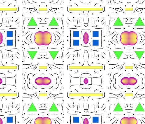 bold Memphis fabric by lilyburton on Spoonflower - custom fabric