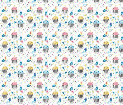 MemphisCupcakeArt_Clarky fabric by clarkyworks on Spoonflower - custom fabric