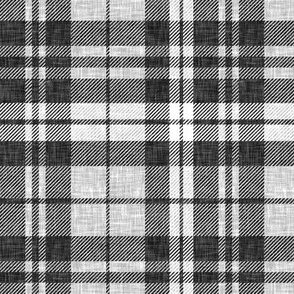 linen plaid - dark charcoal