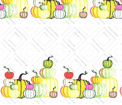 Colorful pumpkin patch  fabric by linnyconley on Spoonflower - custom fabric