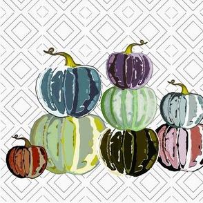 Colorful pumpkin patch