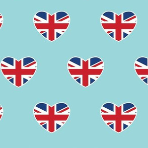 British Hearts - Union Jack Light Blue