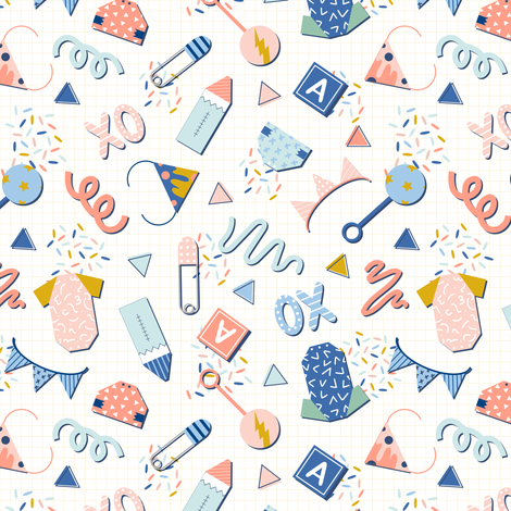 Memphis Babes fabric by juniperr on Spoonflower - custom fabric