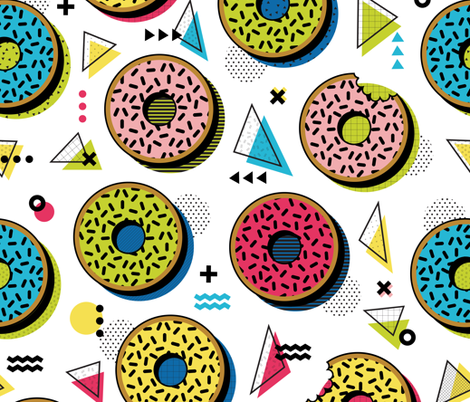 Snacking in Memphis fabric by lellobird on Spoonflower - custom fabric