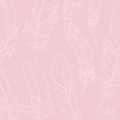 Feather Outline - Soft Pink