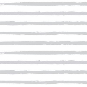 Painted Light Gray  Stripes (Grunge Vintage Distressed 4th of July American Flag Stripes)