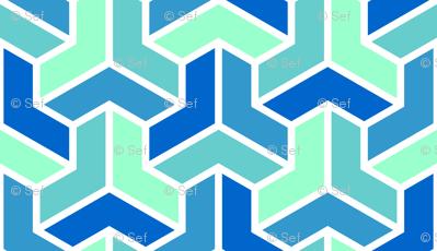 06724691 : chevron 3 x4 : icy blues