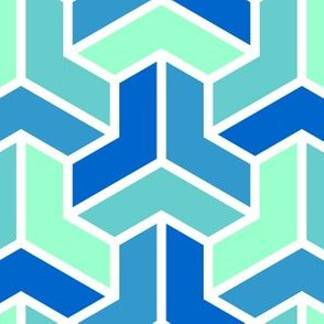 06724691 : chevron 3 x4 : icy blues