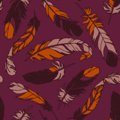 Rustic Fall Feathers - Scattered