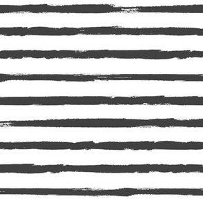 Painted Charcoal Stripes (Grunge Vintage Distressed 4th of July American Flag Stripes)