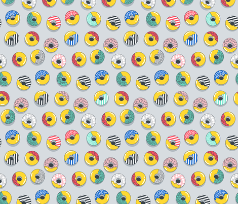 memphis donuts fabric by kostolom3000 on Spoonflower - custom fabric