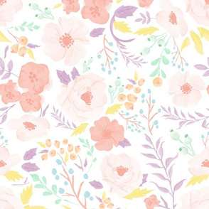 Pastel Meadow Floral
