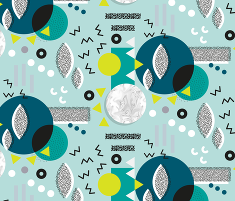 Mephis Laboritory - Teal fabric by pinky_wittingslow on Spoonflower - custom fabric