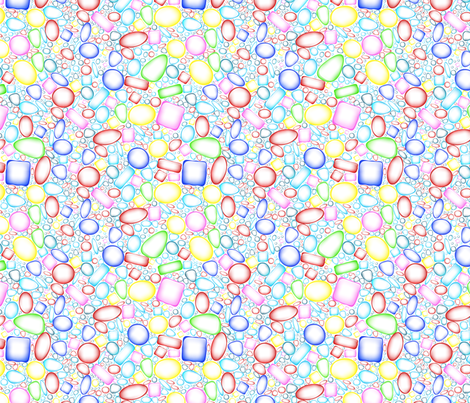 Memphis bubbles fabric by pszelka on Spoonflower - custom fabric
