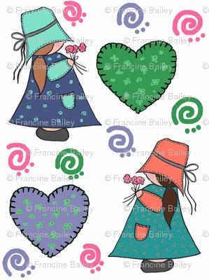 Pigtail Patty & Annie Apple Cheeks