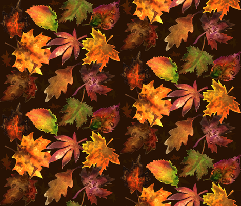 Autumn Leaves fabric by bethramsden on Spoonflower - custom fabric