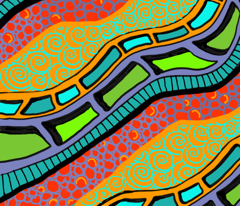 Menphis_Waves fabric by gcatmash on Spoonflower - custom fabric