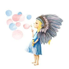 "8"" Boho Child's Play / PINK & BLUE"