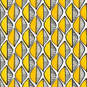 Leaf geometric - yellow