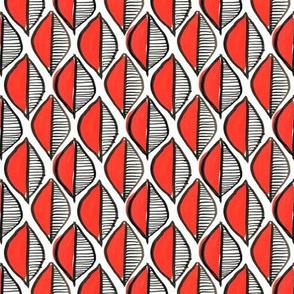 leaf geometric - red