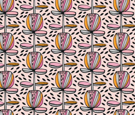 Memphis Garden fabric by kirstenkatz on Spoonflower - custom fabric
