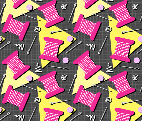 Memphis Sewing fabric by thewellingtonboot on Spoonflower - custom fabric
