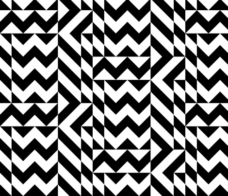 Memphis Black and White fabric by elramsay on Spoonflower - custom fabric