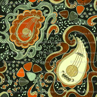 Memphis Paisley Guitars