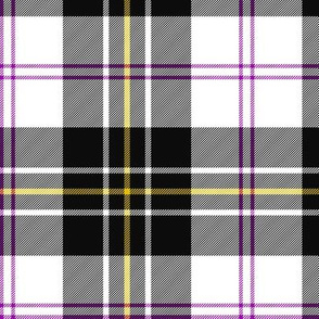 """MacPherson dress tartan, 6"""" black"""