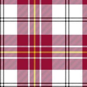 """MacPherson dress tartan, 6"""" burgundy"""
