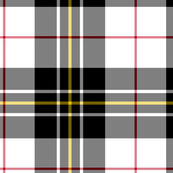 "MacPherson dress tartan, 6"" black single-red-stripe"