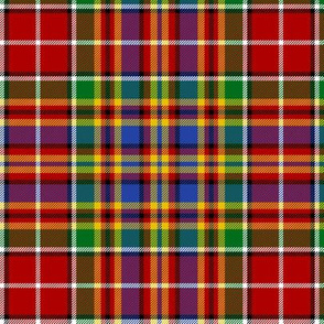MacPherson 1822 red and gold tartan, 6""