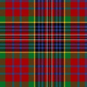 "MacPherson Red tartan, 6"" modern colors"