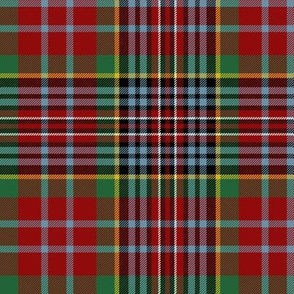 "MacPherson Red tartan, 6"" ancient colors"