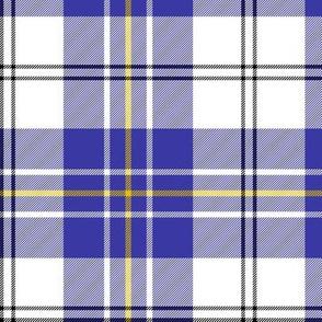 """MacPherson dress tartan, 6"""" blue"""