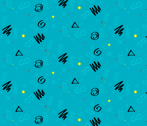 Memphis Microbes fabric by arwen_and_moose on Spoonflower - custom fabric