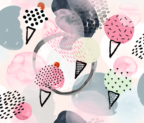 Ice Cream Dream by Friztin fabric by friztin on Spoonflower - custom fabric
