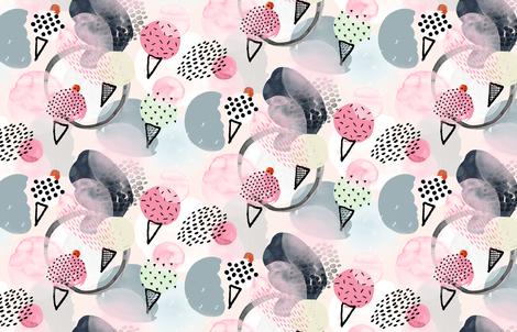 Ice Cream Dream by Friztin fabric by friztin on Spoonflower - custom fabric