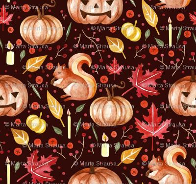 pumpkins and squirrel