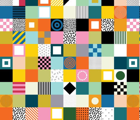 MEMPHIS CHEATER QUILT fabric by katerhees on Spoonflower - custom fabric