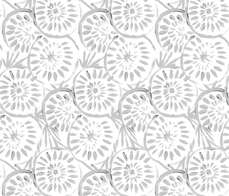 Medallions - gray white fabric by crystal_walen on Spoonflower - custom fabric