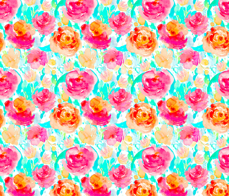 """14"""" Pacific Palisades / BRIGHT fabric by shopcabin on Spoonflower - custom fabric"""