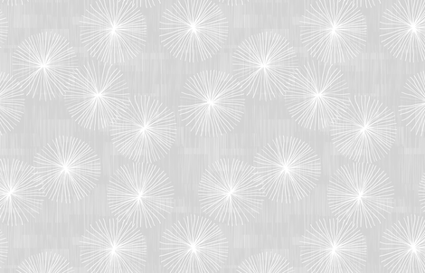 Dandelions Light Grey by Friztin fabric by friztin on Spoonflower - custom fabric