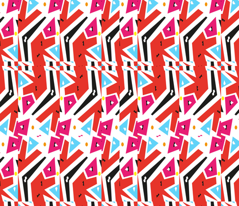Memphis Style Deconstructed fabric by isabella_asratyan on Spoonflower - custom fabric