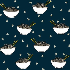 Noodles food kitchen fabric asian noodle bowl dark