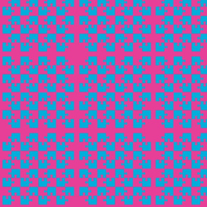 Puzzle Piece Block Grid Magenta Blue