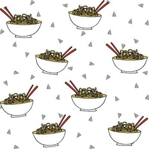 Noodles food kitchen fabric asian noodle bowl white